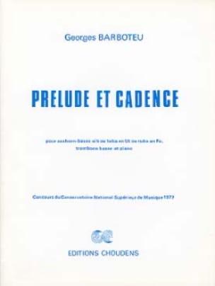 Prélude Et Cadence Georges Barboteu Partition Tuba - laflutedepan