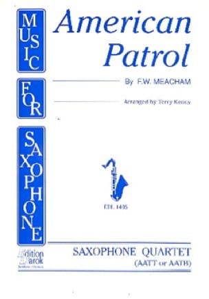 American Patrol F.W. Meacham Partition Saxophone - laflutedepan