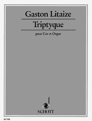 Gaston Litaize - Triptyque - Partition - di-arezzo.fr