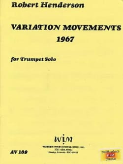 Robert Henderson - Variation Movements 1967 - Sheet Music - di-arezzo.co.uk