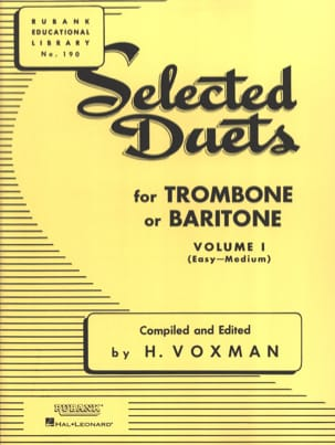 Voxman - Selected Duets for Trombone - Volume 1 - Sheet Music - di-arezzo.co.uk