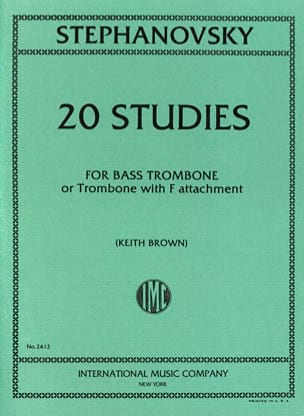 K. Stephanovsky - 20 Studies - Sheet Music - di-arezzo.co.uk