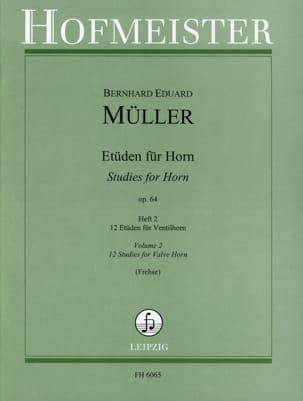 Etüden Für Horn Opus 64 Volume 2 Bernhard Eduard Müller laflutedepan
