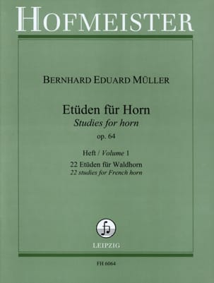 Bernhard Eduard Müller - エトゥン・フュール・ホーン作品64第1巻 - 楽譜 - di-arezzo.jp