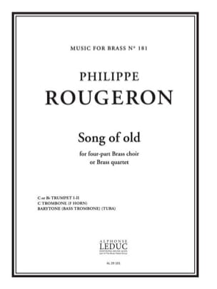 Philippe Rougeron - Song Of Old - Partition - di-arezzo.fr