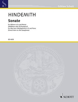 Paul Hindemith - Sonate - Noten - di-arezzo.de