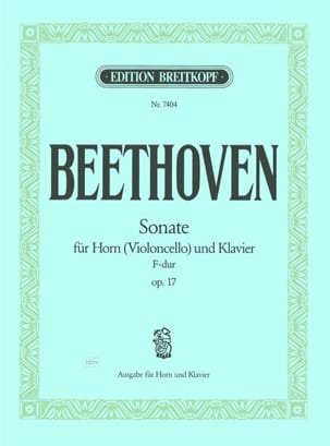 BEETHOVEN - Sonata for horn F-Dur Opus 17 - Sheet Music - di-arezzo.com