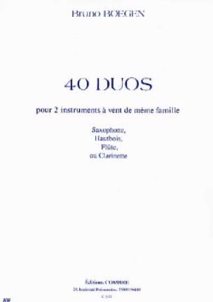 40 Duos Bruno Boegen Partition Saxophone - laflutedepan