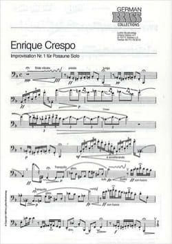 Enrique Crespo - Improvisation Nr. 1 - Sheet Music - di-arezzo.com