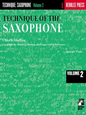 Joseph Viola - The Technique Of The Saxophone Volume 2 - Partition - di-arezzo.fr