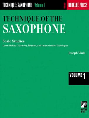 Joseph Viola - The Technique Of The Saxophone Volume 1 - Partition - di-arezzo.fr
