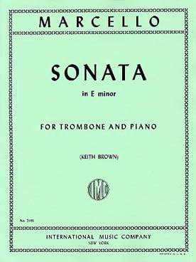 Benedetto Marcello - Sonata In E Minor - Sheet Music - di-arezzo.co.uk