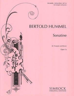 Sonatine - Berthold Hummel - Partition - Trompette - laflutedepan.com