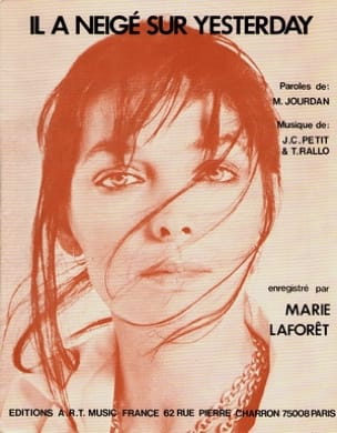 Marie Laforet - It snowed on Yesterday - Sheet Music - di-arezzo.com