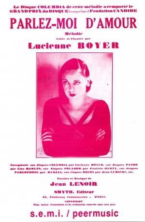 Lucienne Boyer - Tell me about love - Sheet Music - di-arezzo.co.uk
