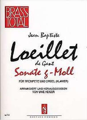 Sonate G-Moll - Jean-Baptiste Loeillet - Partition - laflutedepan.com