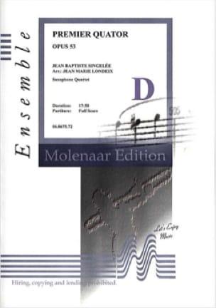 Jean-Baptiste Singelée - Primer Cuarteto Opus 53 - Partitura - di-arezzo.es