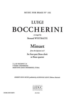 Menuet BOCCHERINI Partition Ensemble de cuivres - laflutedepan