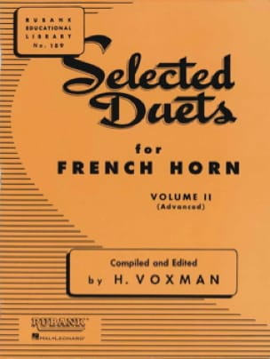Voxman - Selected Duets Volume 2 - Partition - di-arezzo.fr