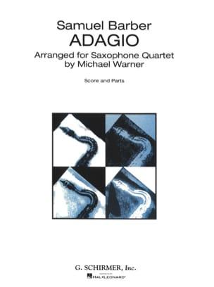 Samuel Barber - Adagio - Saxophone Quartet - Sheet Music - di-arezzo.co.uk