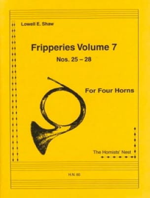 Lowell E. Shaw - Fripperies Volume 7 N ° 25-28 - Partition - di-arezzo.co.uk