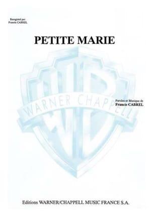 Françis Cabrel - Kleine Marie - Noten - di-arezzo.de