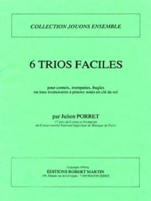 6 Trios Faciles - Julien Porret - Partition - laflutedepan.com