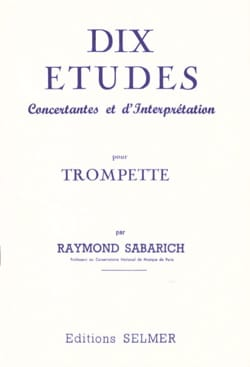 Raymond Sabarich - Ten Studies - Sheet Music - di-arezzo.com