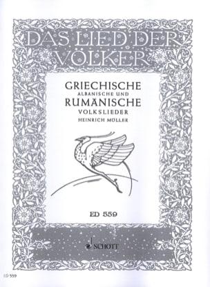 - Griechische Und Rumanische Volkslieder - Partition - di-arezzo.fr