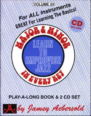 Volume 24 - Major & Minor - METHODE AEBERSOLD - laflutedepan.com
