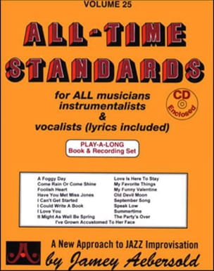 Volume 25 - All Time Standards METHODE AEBERSOLD laflutedepan