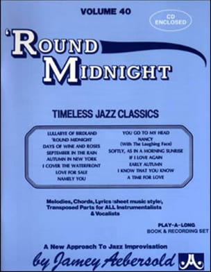 Volume 40 avec 2 CDs - Round Midnight METHODE AEBERSOLD laflutedepan