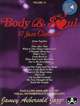 Volume 41 avec 2 CDs - Body & Soul METHODE AEBERSOLD laflutedepan