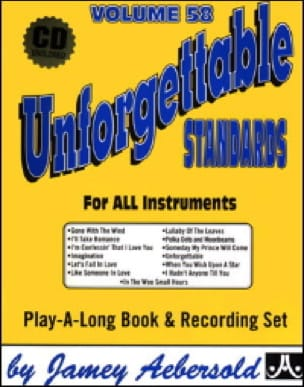 METHODE AEBERSOLD - Volume 58 - Unforgettable Standards - Sheet Music - di-arezzo.co.uk