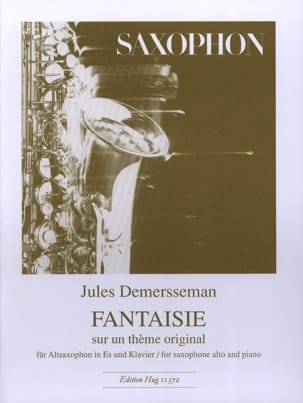 Jules Demersseman - Fantasy On An Original Theme - Sheet Music - di-arezzo.co.uk