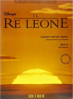 DISNEY - Il Re Leone (le Roi Lion) - Partition - di-arezzo.fr