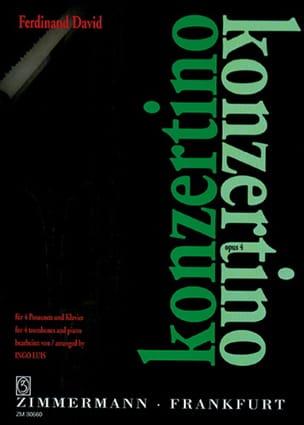 Konzertino Opus 4 Ferdinand David Partition Trombone - laflutedepan