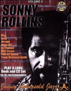 METHODE AEBERSOLD - Volume 8 - Sonny Rollins - Partition - di-arezzo.fr