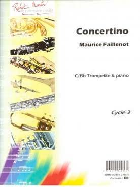 Maurice Faillenot - Concertino - Partition - di-arezzo.fr