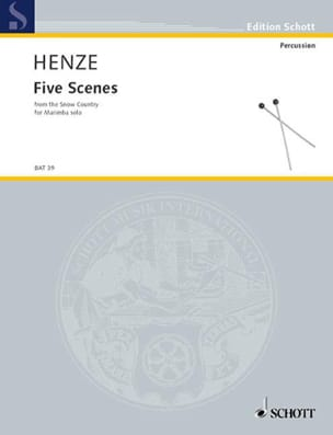 Hans Werner Henze - Five Scenes From The Snow Country - Partition - di-arezzo.fr