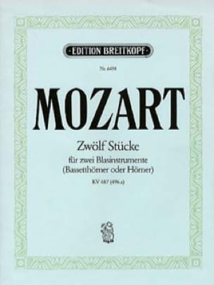 MOZART - Zwölf Stücke for 2 cores KV 487 496a - Sheet Music - di-arezzo.co.uk