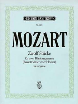 Zwölf Stücke pour 2 cors KV 487 496a MOZART Partition laflutedepan