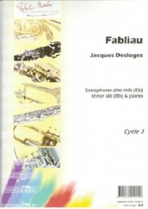 Fabliau Jacques Desloges Partition Saxophone - laflutedepan