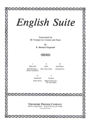 English Suite Bernard R. Fitzgerald Partition Trompette - laflutedepan