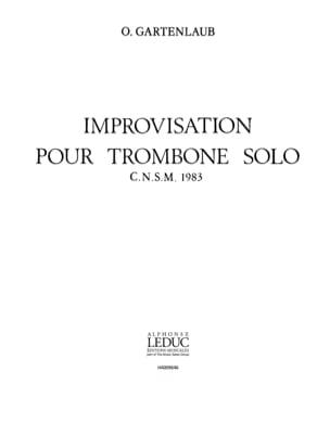 Improvisation pour Trombone Solo - laflutedepan.com