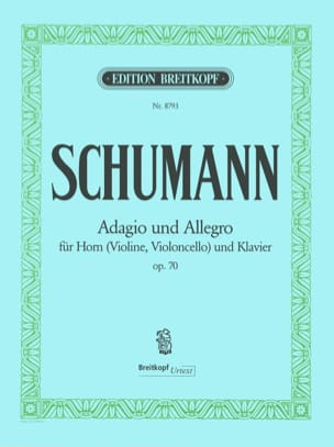 SCHUMANN - Adagio and Allegro Opus 70 - Partition - di-arezzo.fr