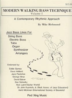 Mike Richmond - Modern Walking Bass Technique Volume 1 - Sheet Music - di-arezzo.co.uk