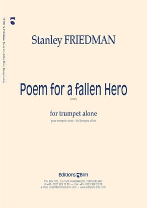 Stanley Friedman - Poem For A Fallen Hero - Partition - di-arezzo.fr