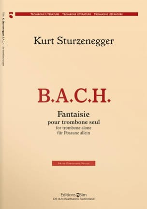 Kurt Sturzenegger - BACH Fantasy - Sheet Music - di-arezzo.co.uk