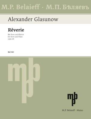 Alexander Glazounov - Rêverie Opus 24 - Partition - di-arezzo.fr